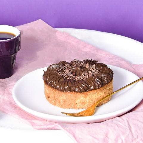 Mini Torta De Cookies Com Brigadeiro - Sem Glúten, Sem Lactose, Sem Açúcar , Low Carb - 120g