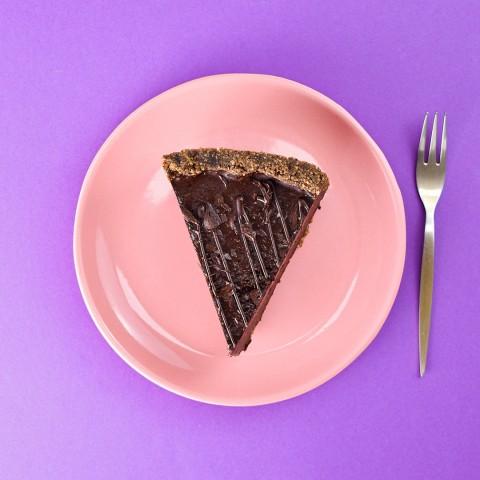 Fatia de Torta de Brigadeiro Trufado - Aproximadamente 160g A Dora Adora