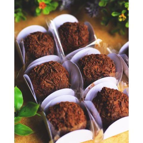 Brigadeiro Tradicional - Sem Açúcar Refinado Sem Lactose (Sem Lácteos) Sem Glúten Vegano Low Carb A Dora Adora - 25 Gramas
