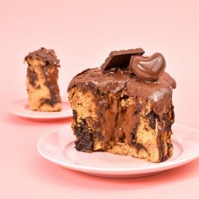 Fatia de Panetone com Gotas de Chocolate Recheado com Brigadeiro 100g – A Dora Adora